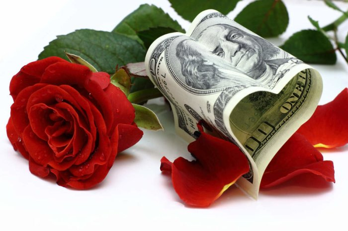 Dinero y flores