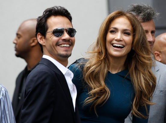 Lopez and her husband Anthony attend the ceremony where producer Simon Fuller was honored with a star on the Walk of Fame in Hollywood